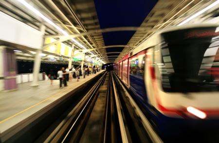 railroad station platform: Sky train in Bangkok