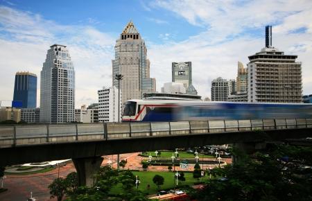 bangkok city: Sky train in Bangkok