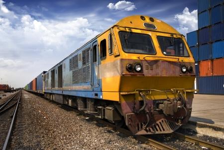 estacion de tren: Cargo tren Foto de archivo