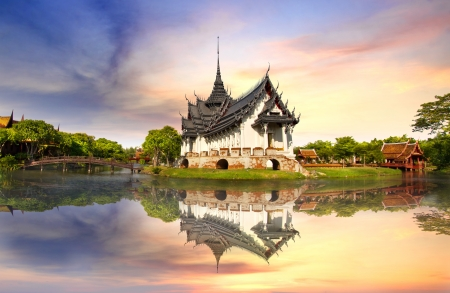 buddhist temple: Sanphet Prasat Palace, Ancient City, Bangkok, Thailand