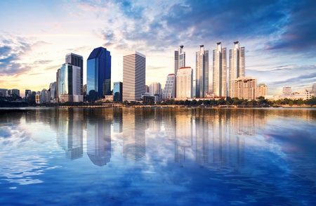 Cityscape in Bangkok, Thailand Stock Photo