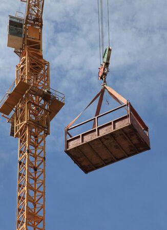 hoist: Crane Hook with blue sky