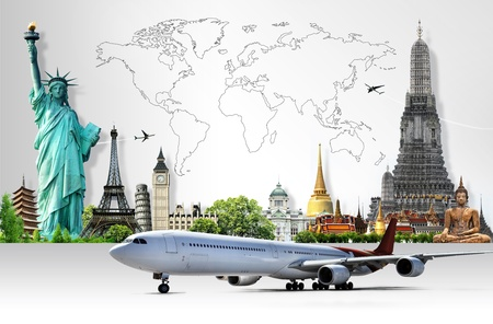 new world: Travel the world Stock Photo
