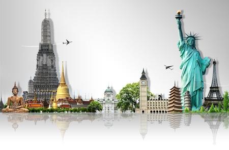 kavram: Seyahat dünya Stok Fotoğraf