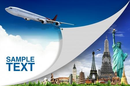 reizen: Reis de wereld Stockfoto