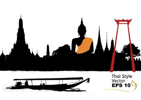 tempels: vector van thailand