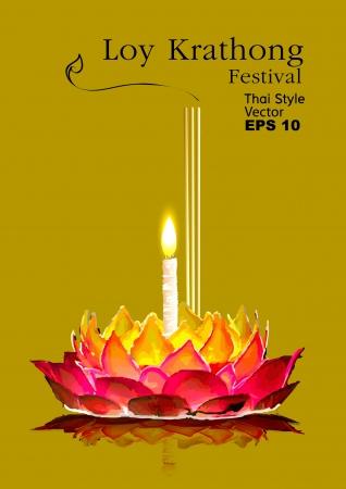 thailand culture: Loy Krathong Festival in thailand