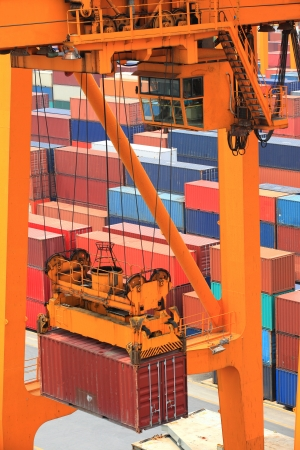 container operation in port Stock Photo - 16121791