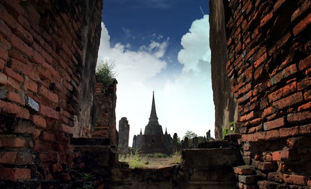 Ancient temple of Ayutthaya, Thailand photo