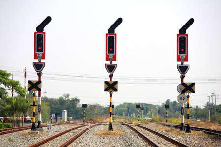 railway track: stop signalling for railway junction