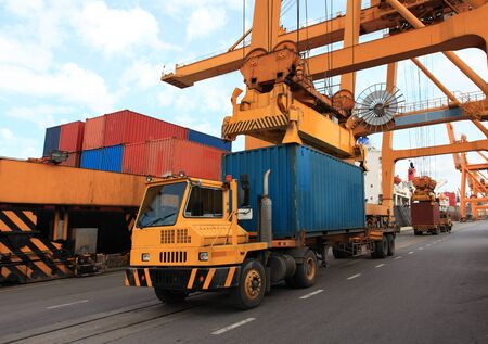 container operation in port Stock Photo - 16615282