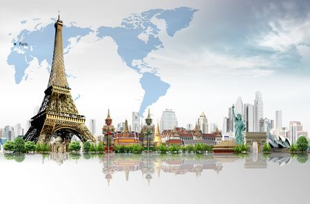 Travel concept, Eiffel Tower, Paris Stock Photo - 17722344
