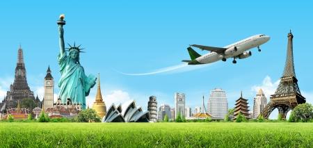földgolyó: Utazás a világ, koncepció Stock fotó