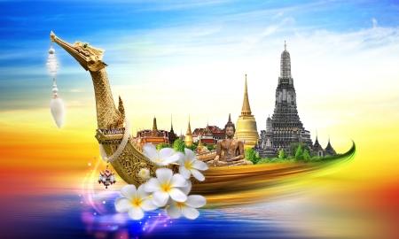 songkran: Thailand travel concept