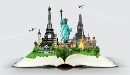 Book of travel Stock Photo - 17872184