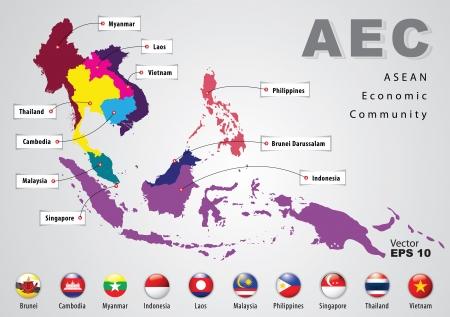ASEAN Economic Community, AEC Stock Vector - 18133770