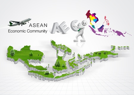 ASEAN Economic Community, AEC, concept photo