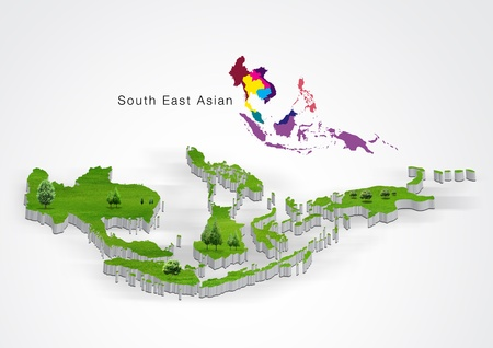 Map of South-East Asia photo