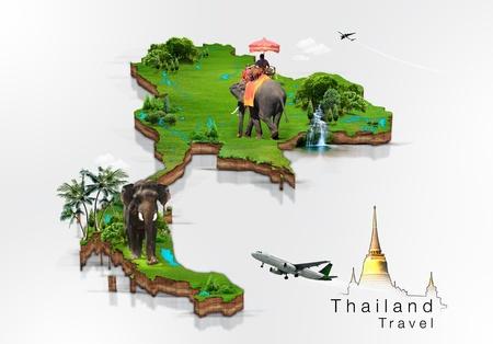 thai background: Thailand travel concept