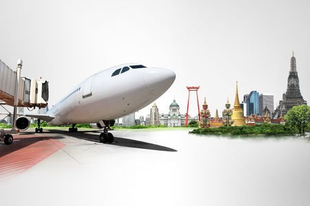 Thailand travel background concept Stock Photo - 18546128