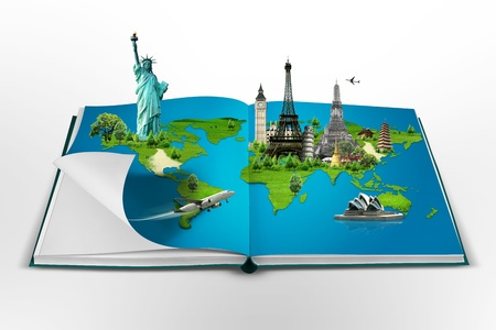 Book of travel photo