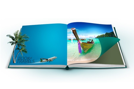 3D open book with thailand bangkok travel concept Stock Photo - 18758688