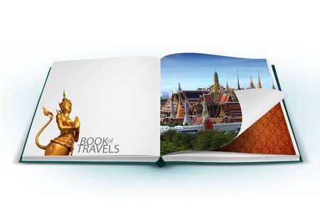 3D open book with thailand bangkok travel concept Stock Photo - 18758690