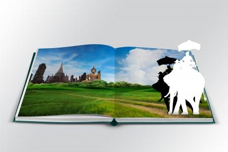 3D open book with thailand bangkok travel concept Stock Photo - 18890265