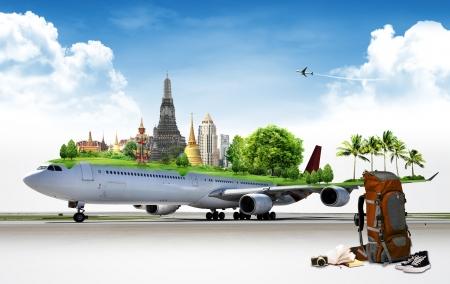 airplane travel: Airplane Travel, concept Stock Photo