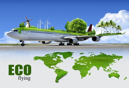 ecological: ecological air travel, concept