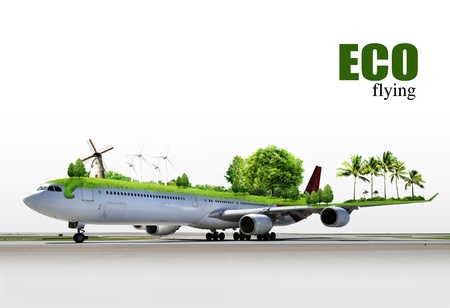 nonpolluting: ecological air travel, concept