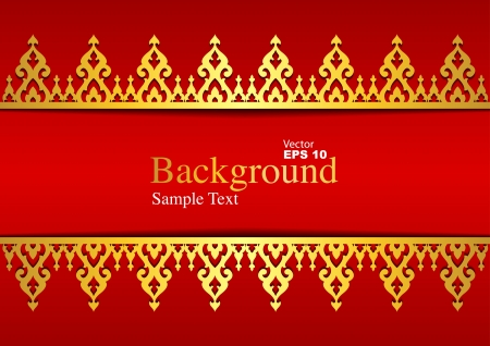 Vintage background, antique greeting card Stock Vector - 20361293