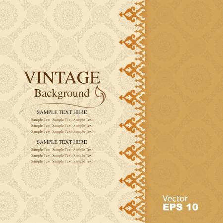 copertina libro antico: Sfondo vintage, antiquariato biglietto di auguri Vettoriali
