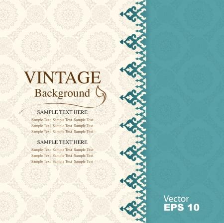 vintage: Fundo do vintage, antigo cart Ilustração