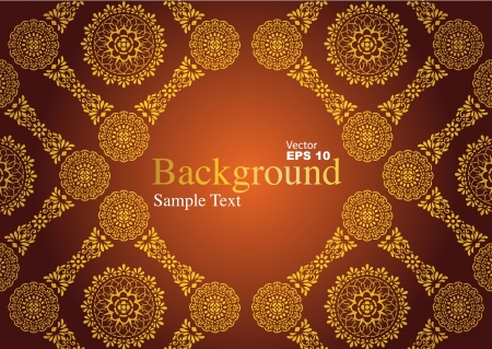 Vintage background, antique greeting card Stock Vector - 20361291