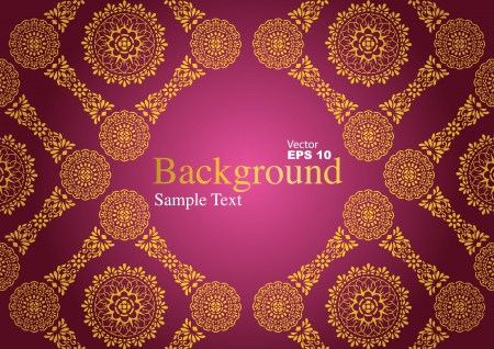 thai style: Vintage background, antique greeting card