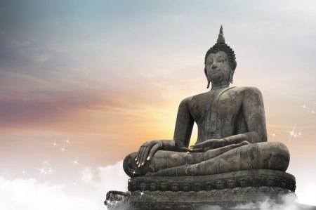 Buddha statue over scenic lighting background Stock Photo - 20361299