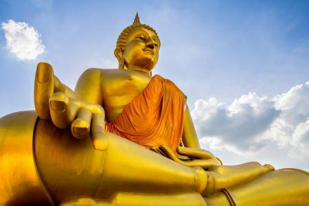thai believe: View of buddha statue in Thailand