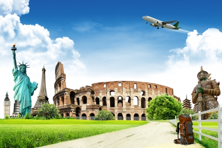 tourist attraction: travel background  concept Editorial