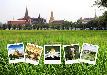 travel photography on clothespins, thailand photo