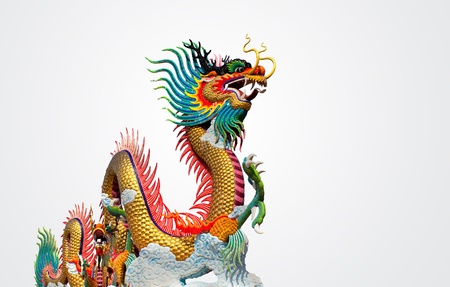 chinese culture: Chinese dragon at sunset in the background Stock Photo