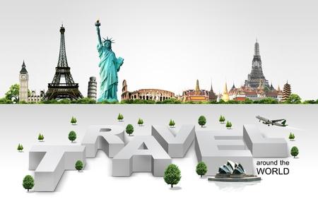Reisen Hintergrund und Infografik Standard-Bild - 21732363