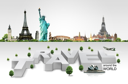 Travel background and infographic photo