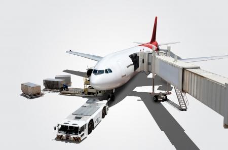 로드에 공항에서 비행기