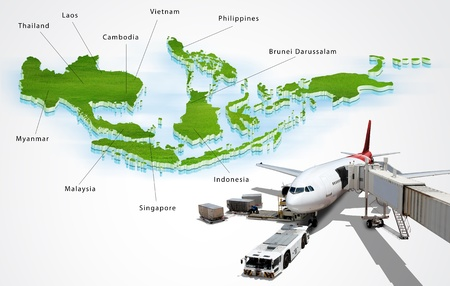 Air transport in ASEAN, concept photo