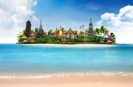 컨셉: 태국의 바다 풍경, 개념 스톡 콘텐츠