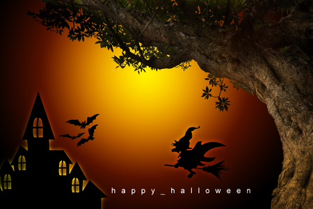 nice house: halloween background