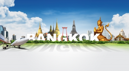 Travel in Bangkok, concept panorama landscape photo