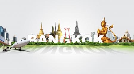 Travel in Bangkok, concept panorama landscape Standard-Bild