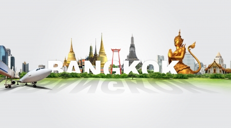 Travel in Bangkok, concept panorama landscape Stock Photo